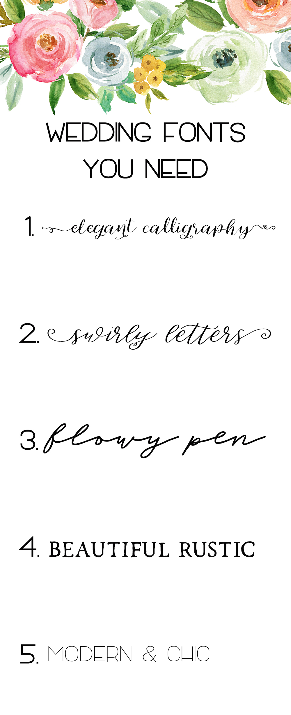 Wedding Fonts You Need!