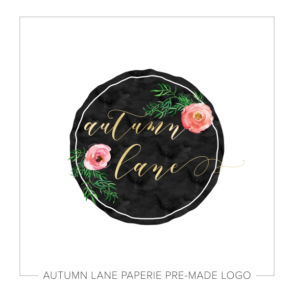 Striking Circular Floral Badge Logo K79