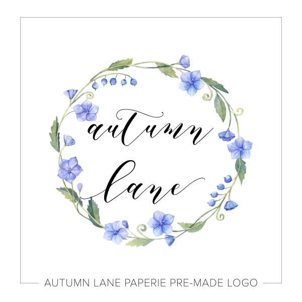 Blue Wreath Floral Logo L12