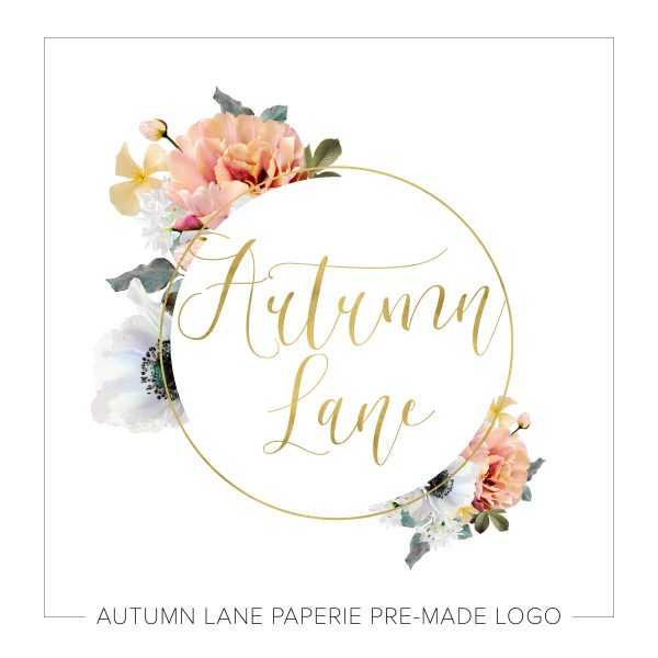 Orange Florals Circle Logo L33