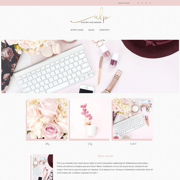 Premade Website Design Magnolia Product Listing Image