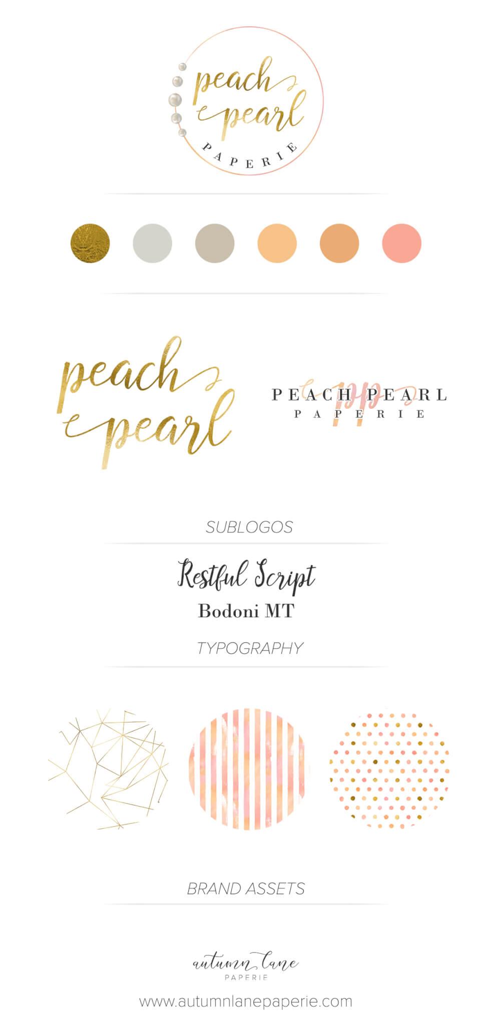 Brand Brag!  Peach Pearl Paperie