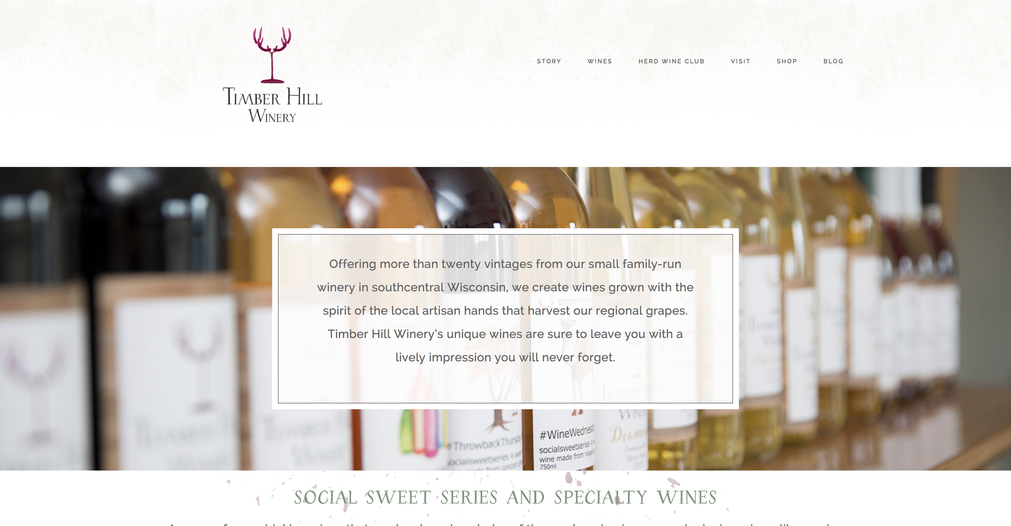 Timber Hill Winery Website