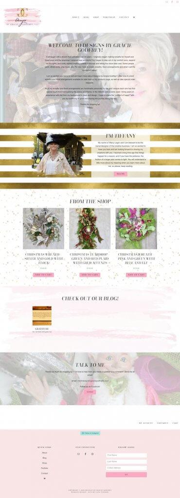 Designs By Gracey Godfrey Website