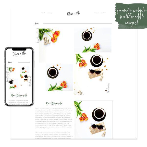 olive & 5th premade website