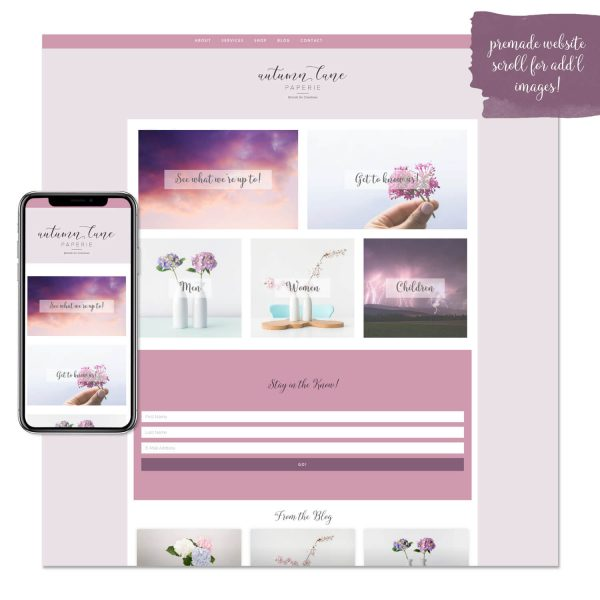 pleasant purple premade website