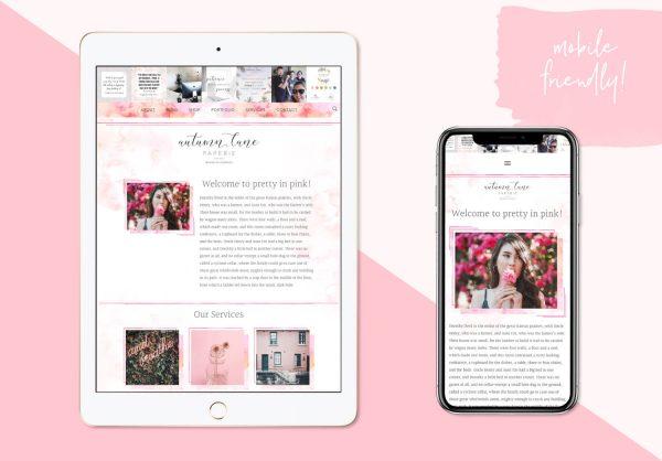 pretty in pink premade website