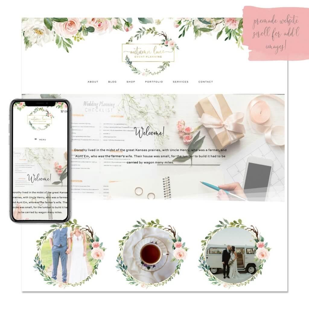 Rose + Ivy Premade Website