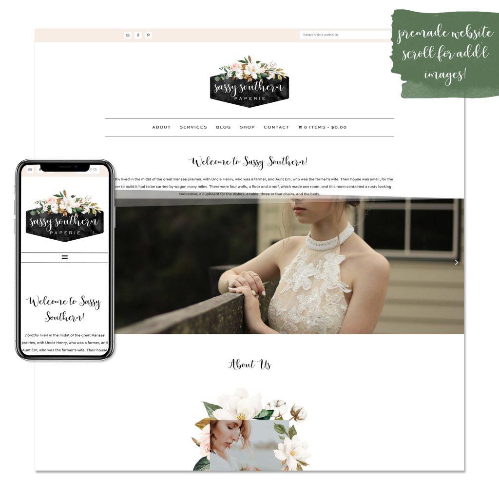 sassy southern premade website