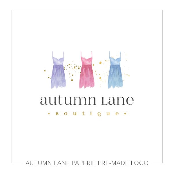 Fashion Boutique Logo with Dresses N53