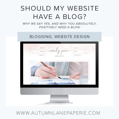 Should my website have a blog?  Do I even NEED a blog??