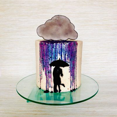 rain cloud cake A
