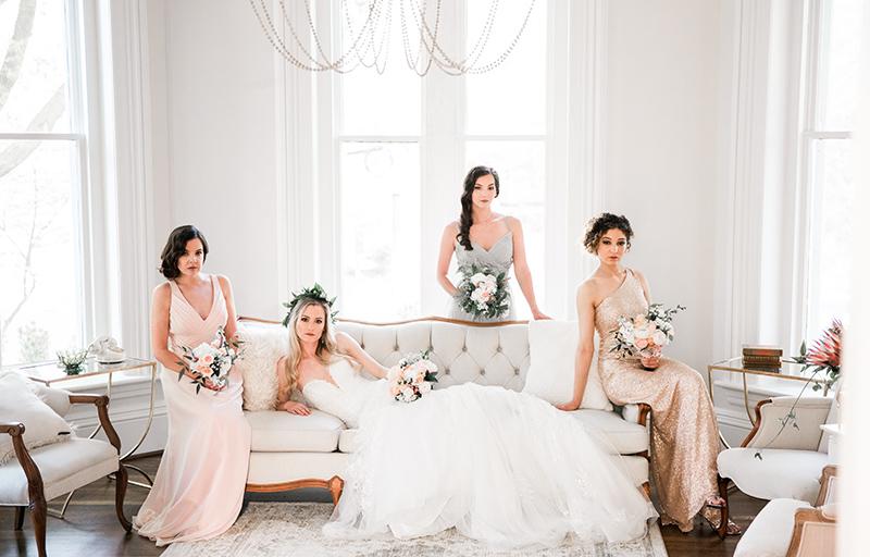 classy Charleston bridesmaids A