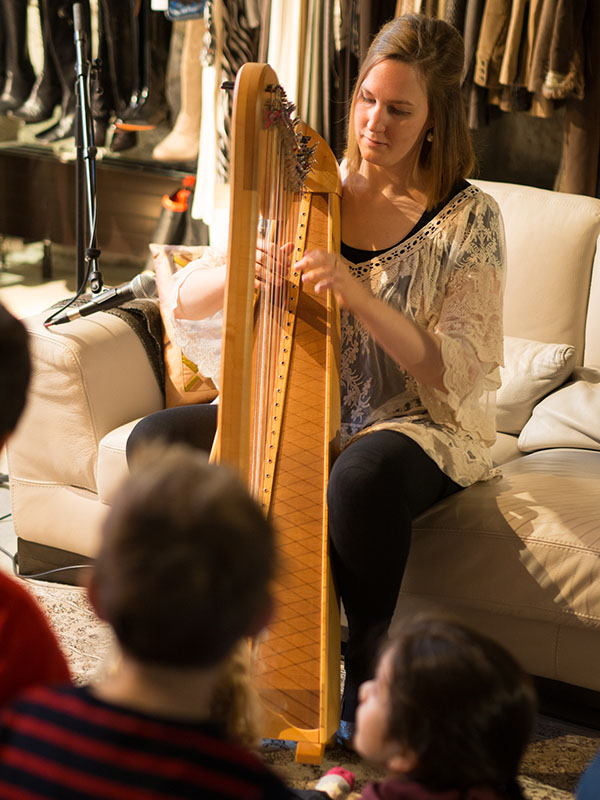 Isabelle Hauser on harp