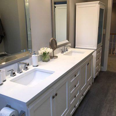 Kristin Ames neutrals bathroom update