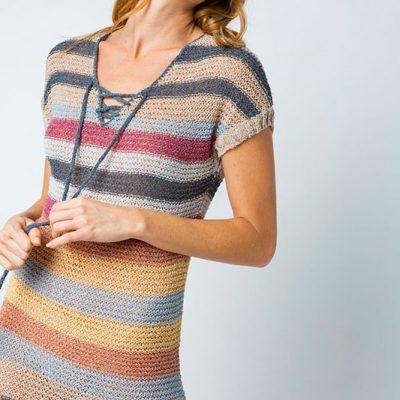 striped sweater dress beach wear