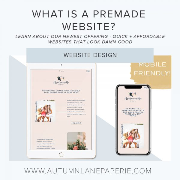 premade website