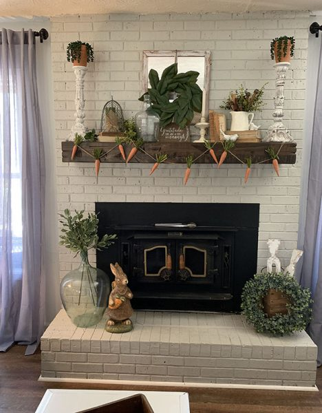 after photo of brick fireplace
