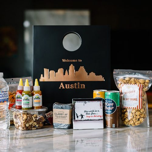 welcome to Austin gift bag by Crown and Bow