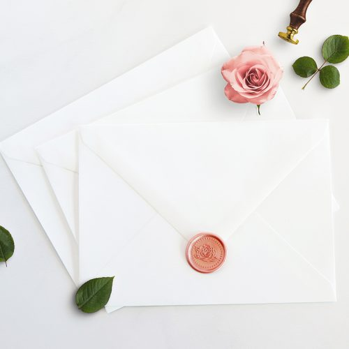 Seventh & Anderson dotted rose wax seal