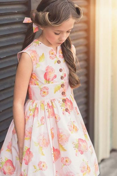 Opal vintage girls dress pattern