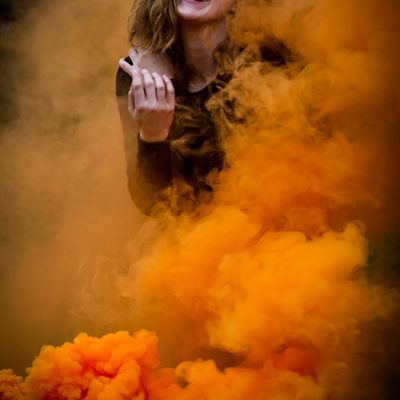S&Company orange smoke girl