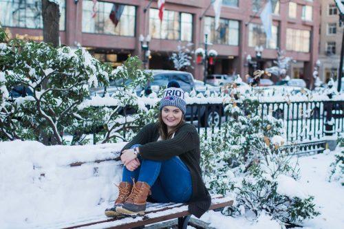 snow bench Sophe B Massachusetts
