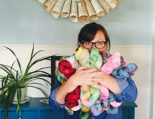 Heather Best founder of Sew Happy Jane hand dyed yarn