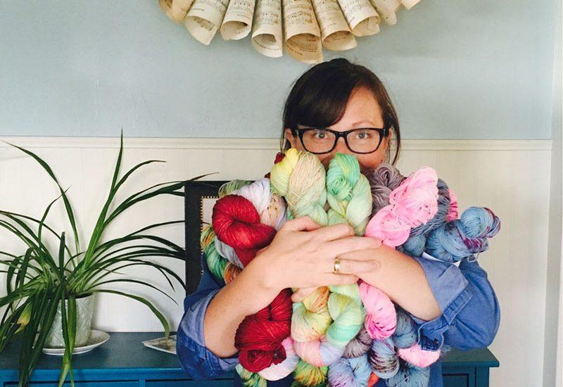 Heather Best founder of Sew Happy Jane hand dyed yarn