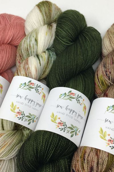 Sew Happy Jane hand dyed yarn colors