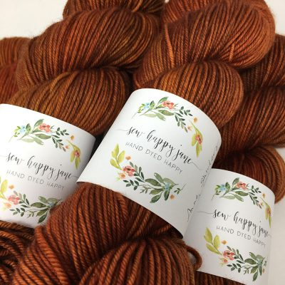 Sew Happy Jane yarn labels hand dyed happy