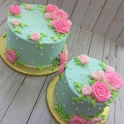 floral cakes by Once Upon A Cupcake