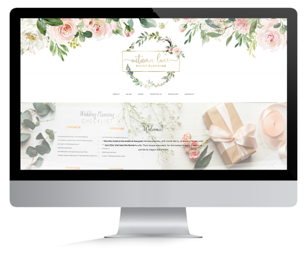 Autumn Lane Web Design Premade Websites