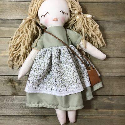 handmade doll by Ribbons and RicRac
