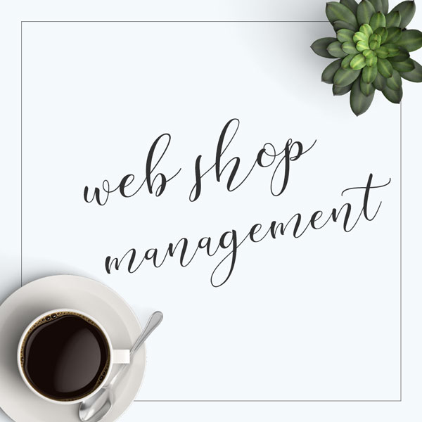 web shop management