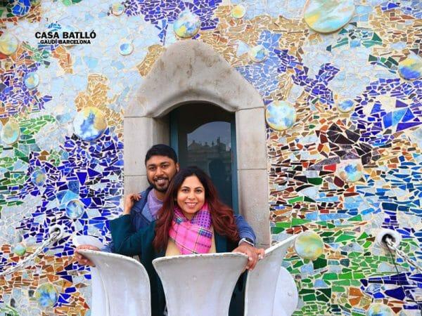 barcelona mosaic wall antoni gaudi charming escape