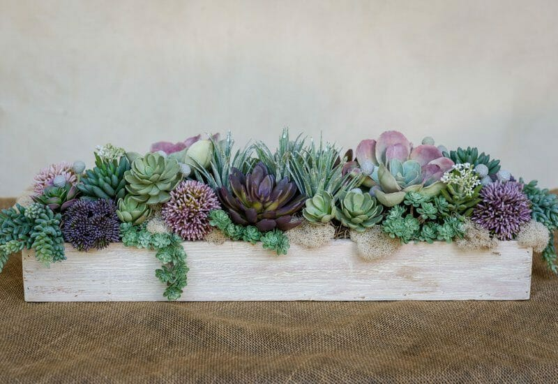 faux succulent arrangements