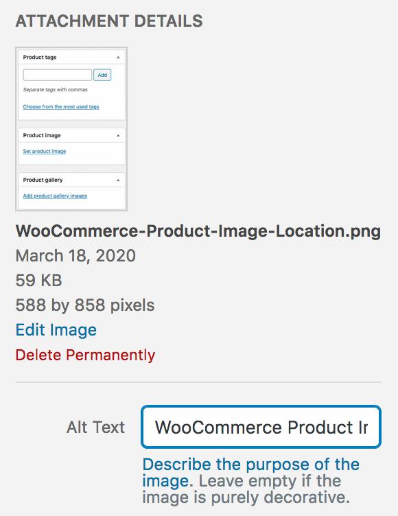WooCommerce Set IMG ALT text