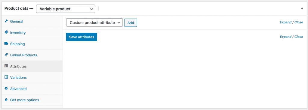 WooCommerce Set Variable Product's Attributes