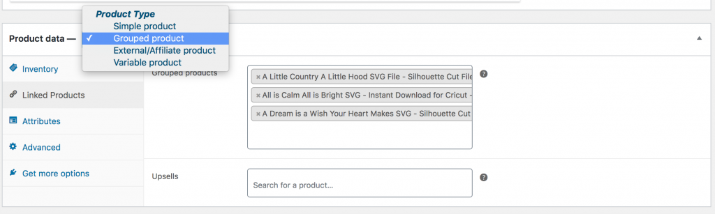 WooCommerce Grouped Product
