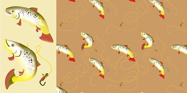 Brown Trout Pattern and Pattern Components