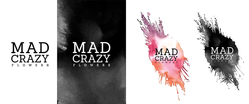 Mad Crazy Flowers Logos
