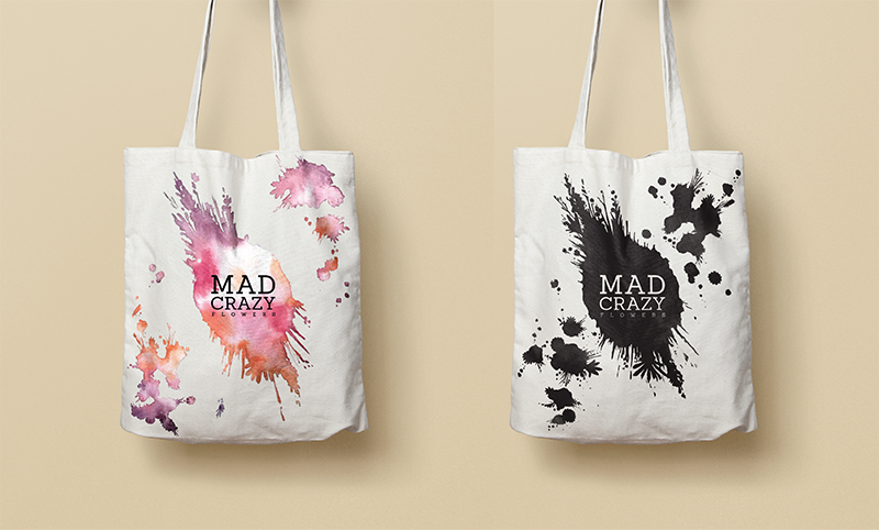 Mad Crazy Flowers Totes