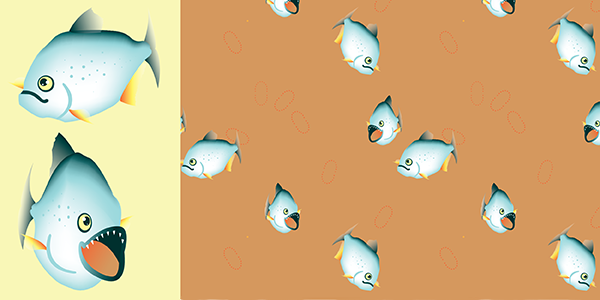 Pirambebas Piranha Pattern and Pattern Components