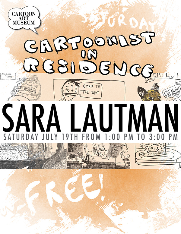 Artist-In-Residence Talk at the Cartoon Art Museum, 8.5in x 11in