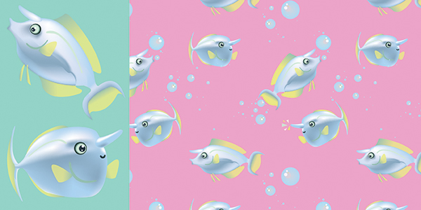 Unicornfish Pattern and Pattern Components
