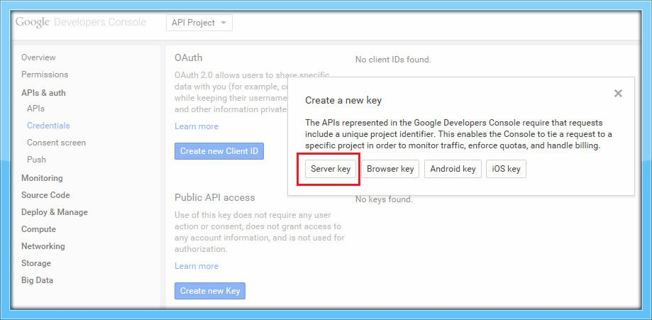 Server Key - GCM