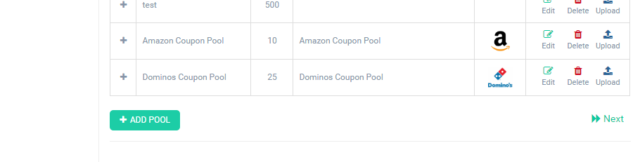 Dominos & Amazon Coupon Pools