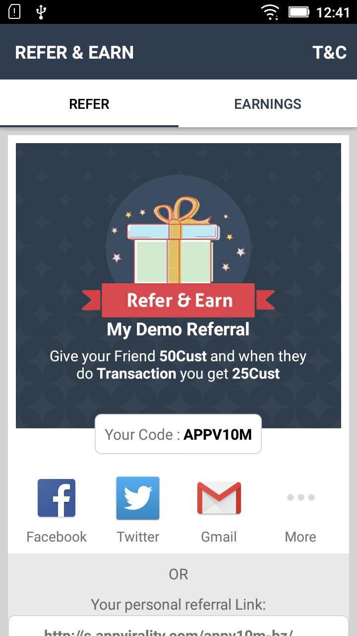 Launch Referral Screen