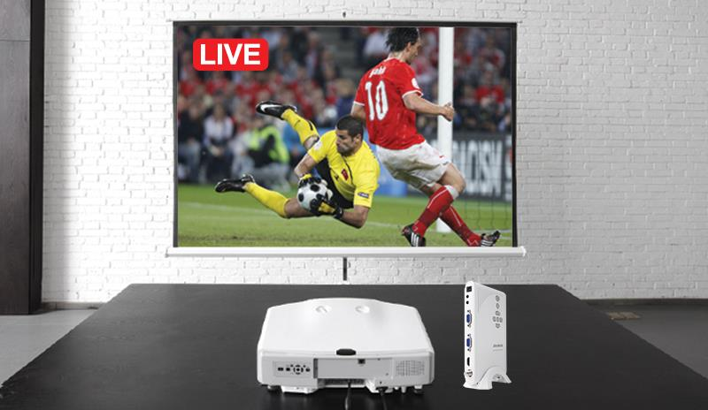 By adding an AVerTV Hybrid TVBox 13 to your projector, students can now enjoy live TV, and even morning announcements every day.